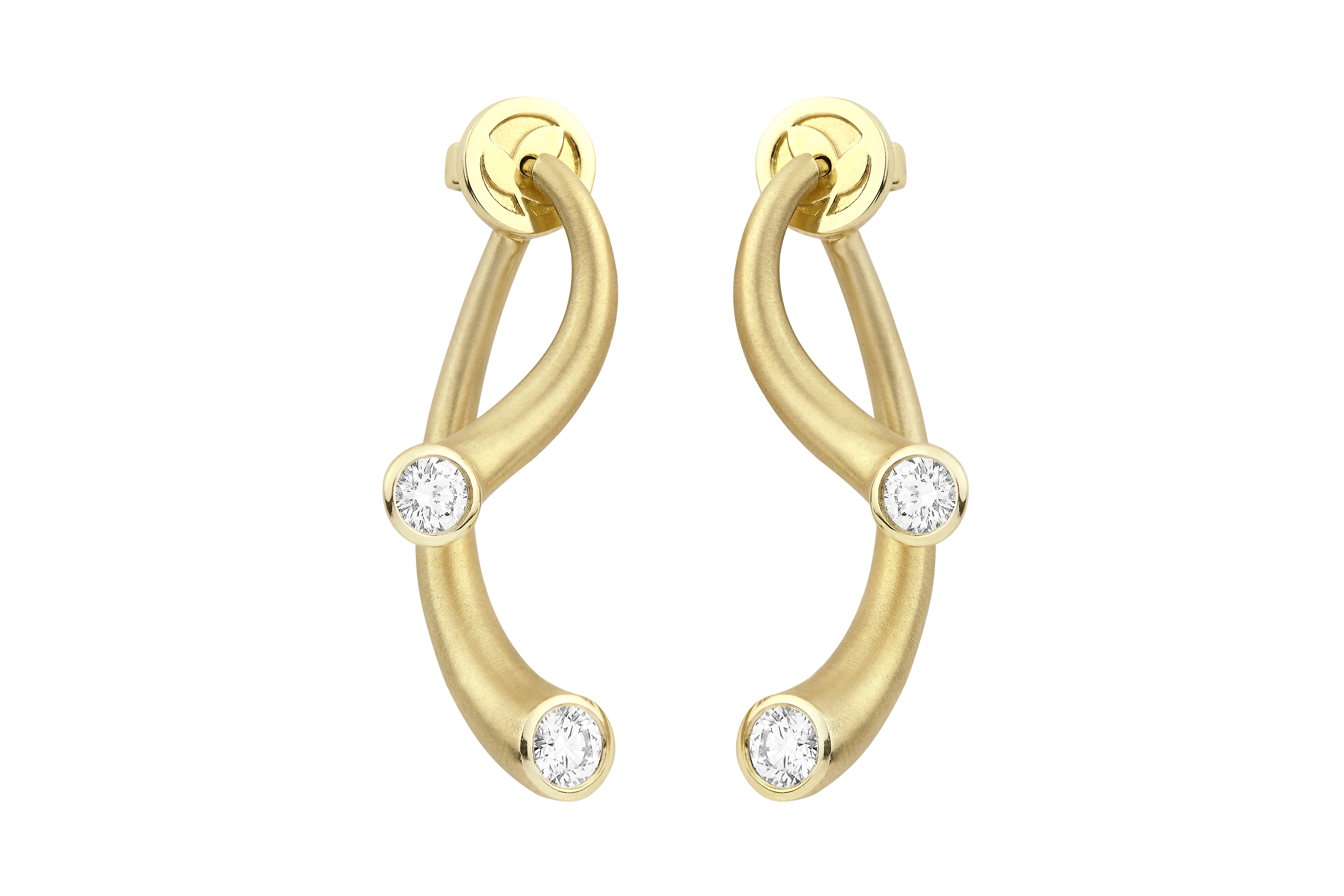 18-karat Yellow Gold 3-Way Diamond Earrings