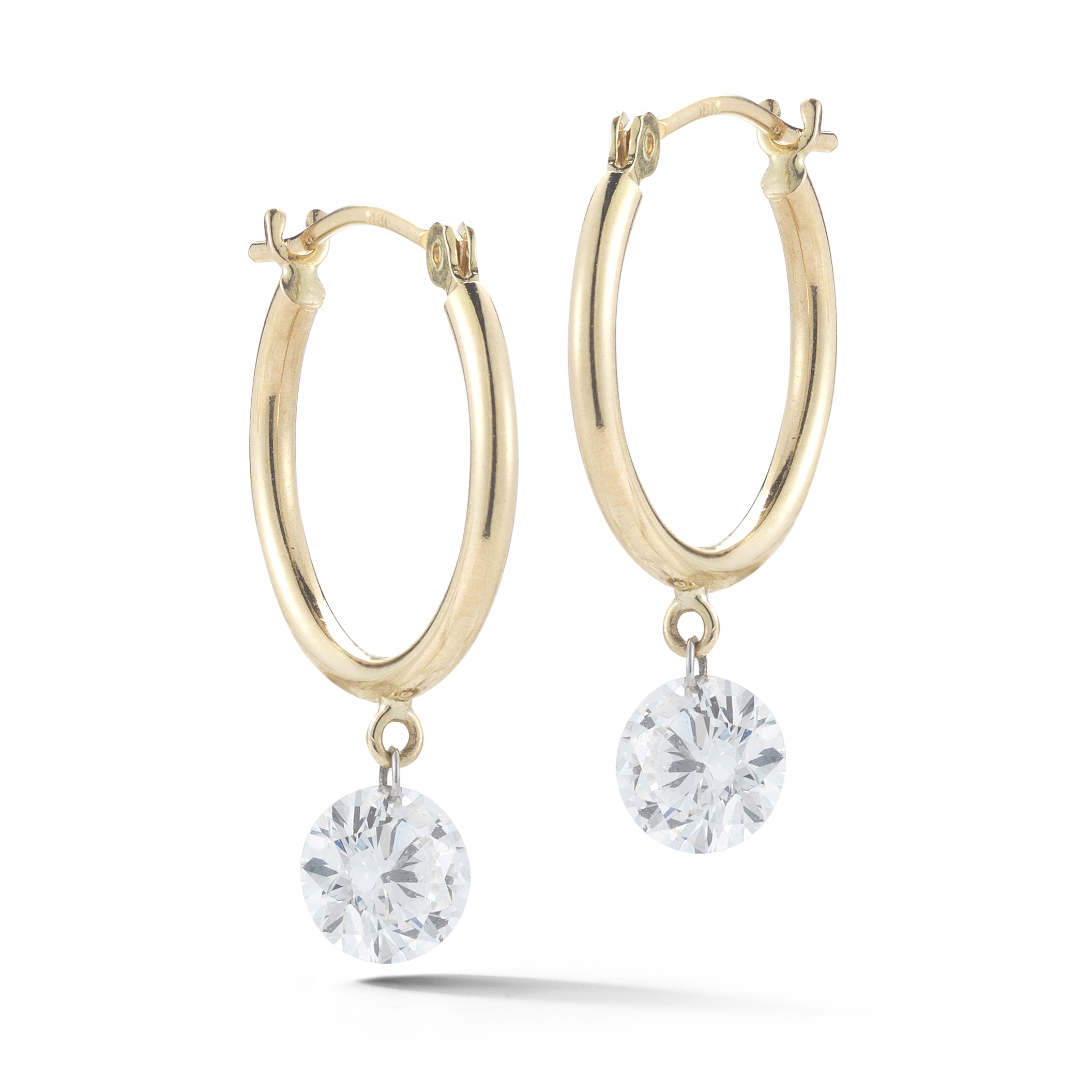 18-karat Yellow Gold Diamond Drop Earrings