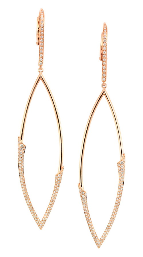 18-karat Rose Gold Diamond Dangle Earrings