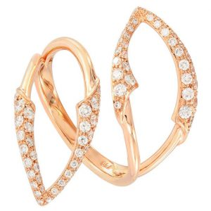 18Kt Rose Gold Diamond Ring