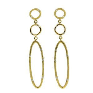 18KT Yellow Gold Vendorafa Diamond Earrings