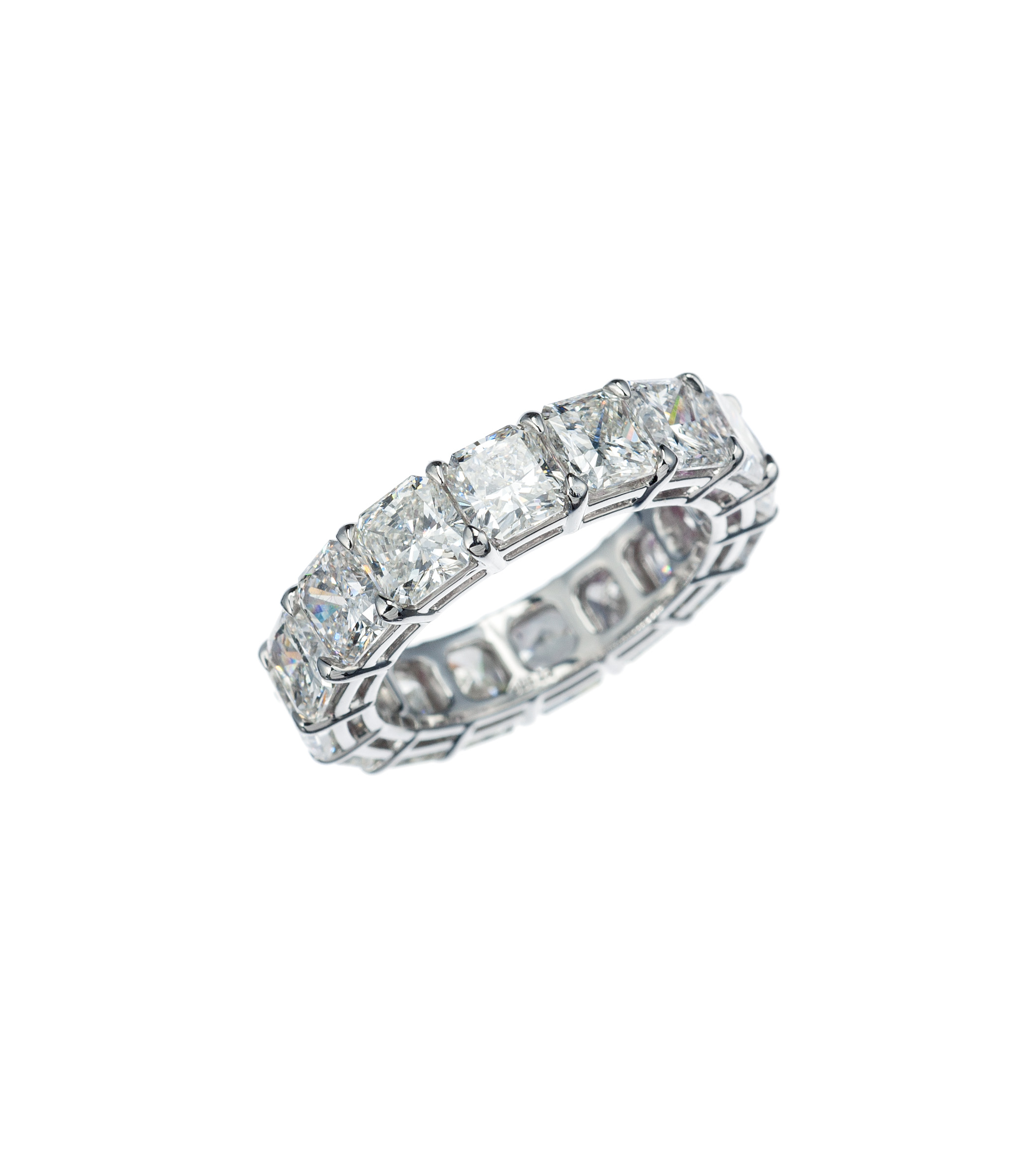 Platinum Radiant Diamond Eternity Band