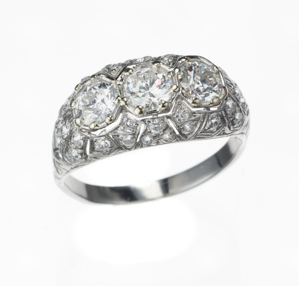 Platinum & 18kt Estate Diamond Ring