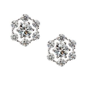 18Kt White Gold Diamond Starry Night Earrings