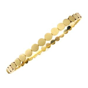 18K Yellow Gold Disco Dots Bracelet