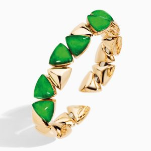 18K Rose Gold, Jade and Rock Crystal Freccia Bracelet