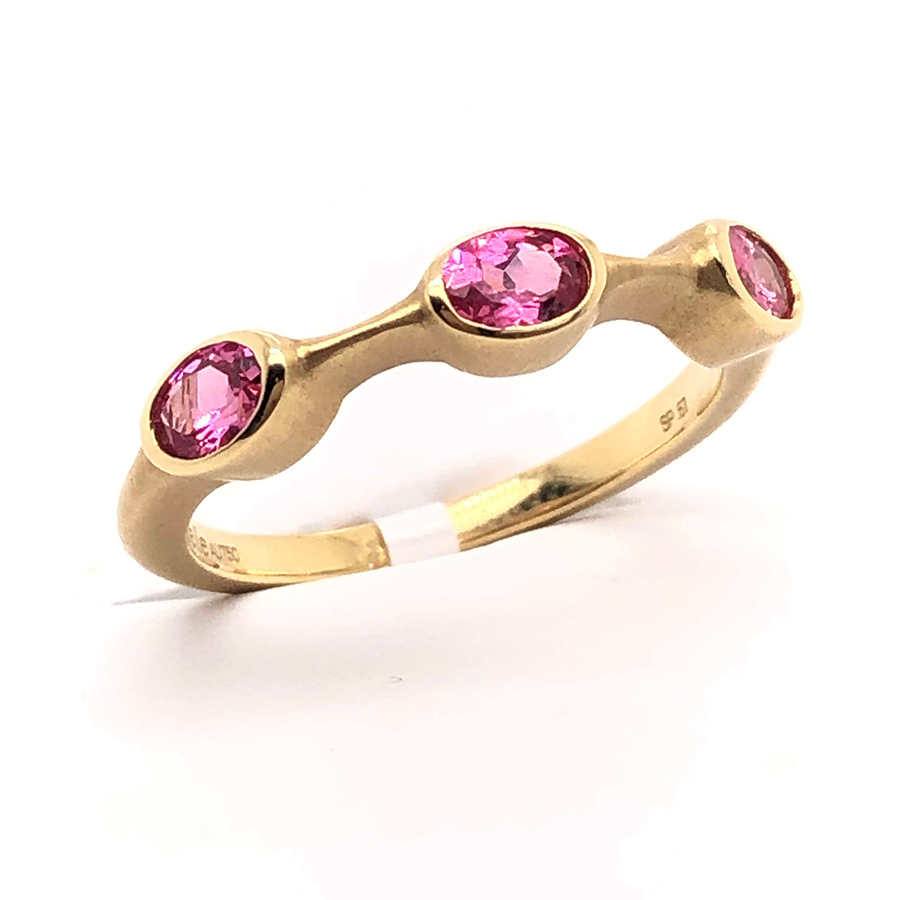 18K Yellow Gold Red Spinel Ring
