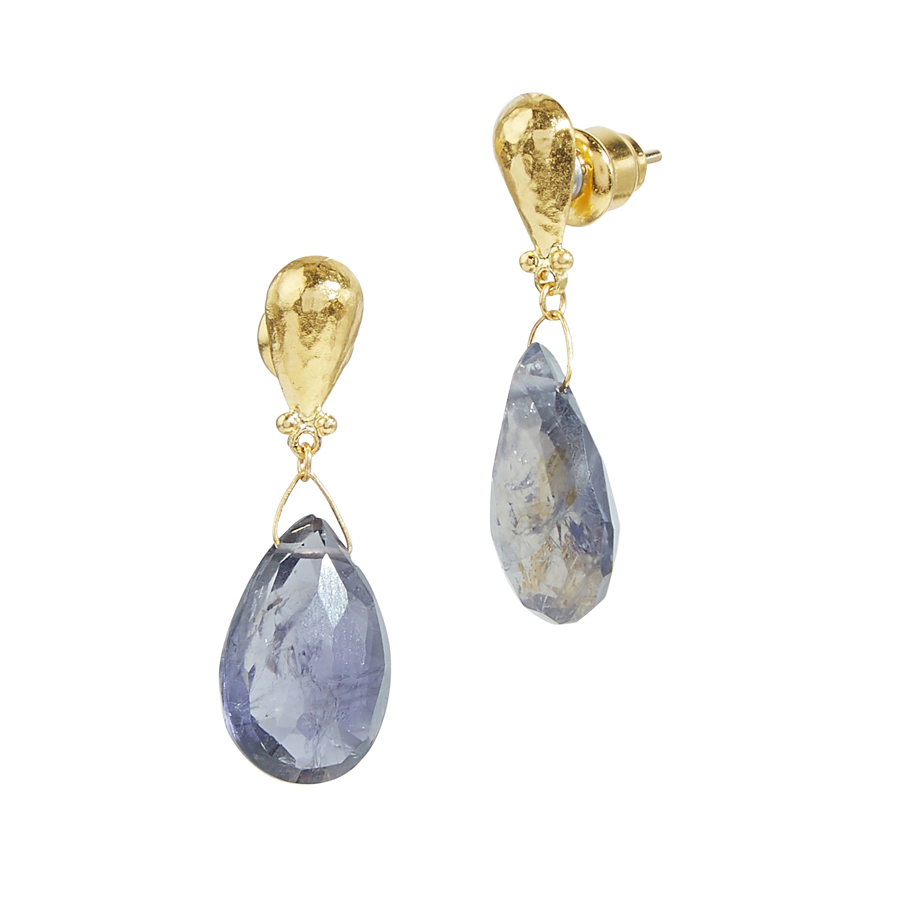 Iolite Single Drop Earrings