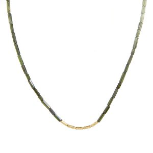Tourmaline and Gold Bead Necklace