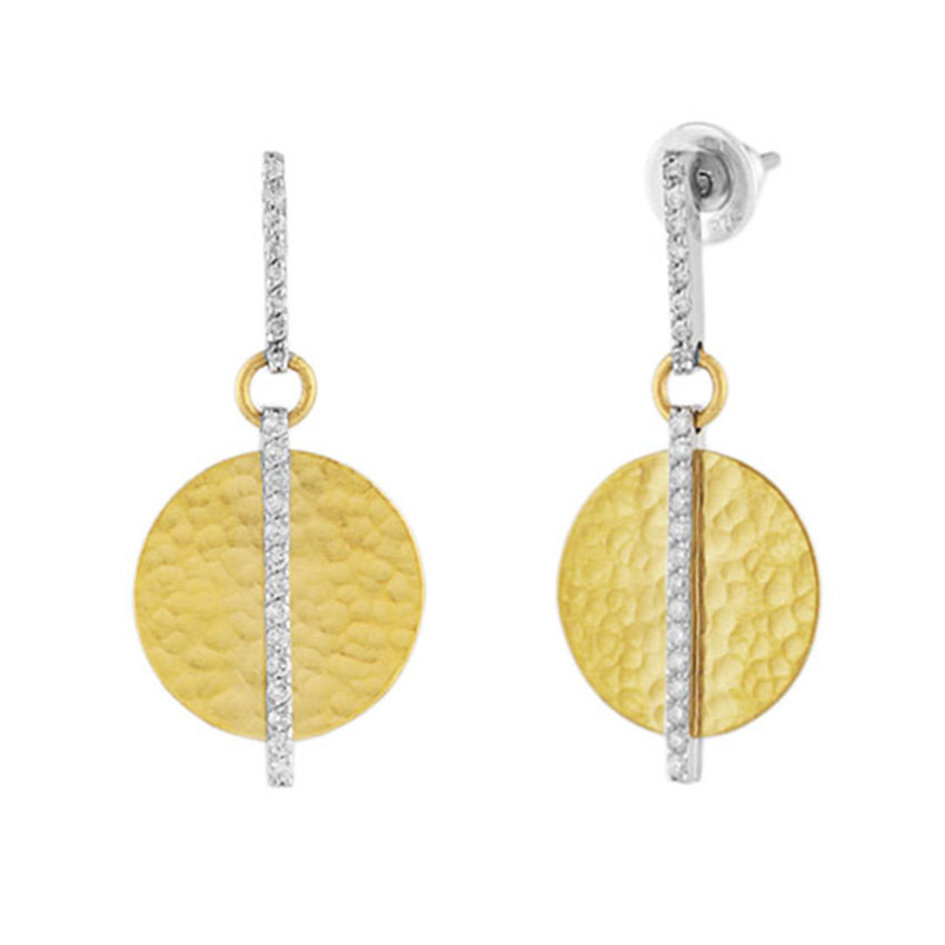 24K Yellow Gold and Diamond Lush Earrings