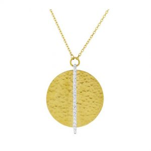24K Yellow Gold And Diamond Lush Pendant