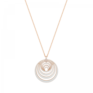 Rose Gold, Diamond And White Enamel Aurora Necklace