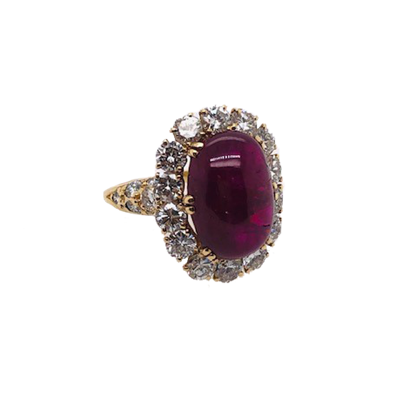 Yellow Gold, Ruby and Diamond Ring, Van Cleef & Arpels
