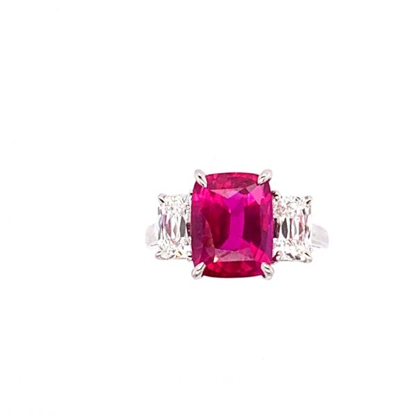 Oscar Heyman Ruby & Diamond Ring