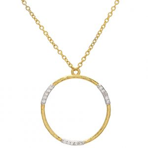 22K & 18K Yellow Gold Geo Pendant Necklace
