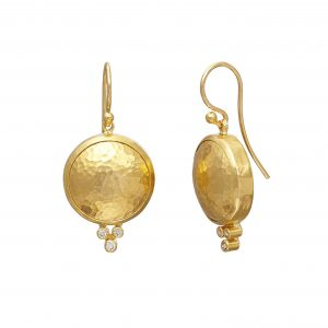 22K & 18K Yellow Gold Amulet Earrings