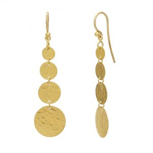 22K & 18K Yellow Gold Lush Drop Earrings