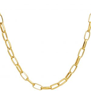 24K & 22K Yellow Gold Hoopla Chain Necklace