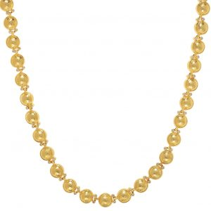24K Yellow Gold Amulet Diamond Necklace