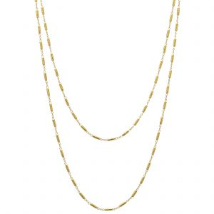 24K & 18K Yellow Gold Vertigo Link Necklace