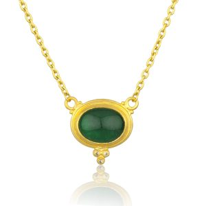 24Kt Yellow Gold Sloane Emerald And Diamond Necklace