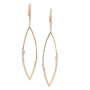 18Kt Rose Gold and Diamond Earrings