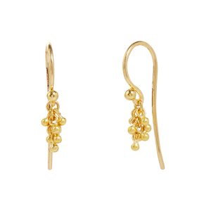 22K & 18K Yellow Gold Boucle Earrings