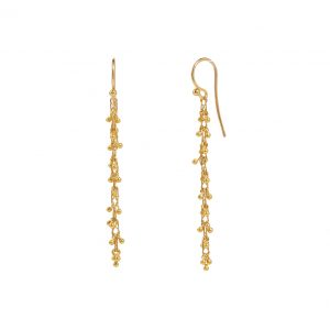 22K & 18K Yellow Gold Boucle Stiletto Earrings