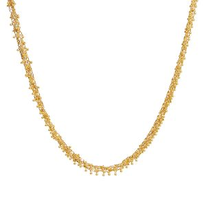 24K Yellow Gold Boucle Necklace