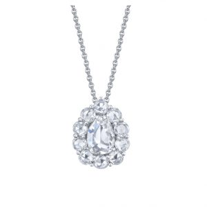Platinum Rose-Cut Diamond Necklace