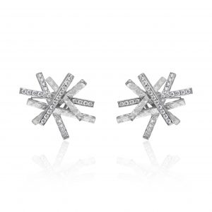 Platinum and Diamond Heights Earrings