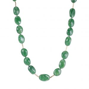 18KT Yellow Gold, Tsavorite and Diamond Necklace