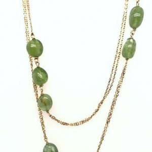 18K Yellow Gold and Peridot Necklace